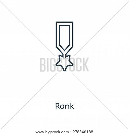 Rank Icon In Trendy Design Style. Rank Icon Isolated On White Background. Rank Vector Icon Simple An