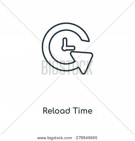 reload time icon in trendy design style. reload time icon isolated on white background. reload time vector icon simple and modern flat symbol for web site, mobile, logo, app, UI. reload time icon vector illustration, EPS10. poster