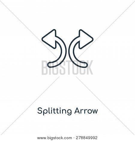 Splitting Arrow Icon In Trendy Design Style. Splitting Arrow Icon Isolated On White Background. Spli