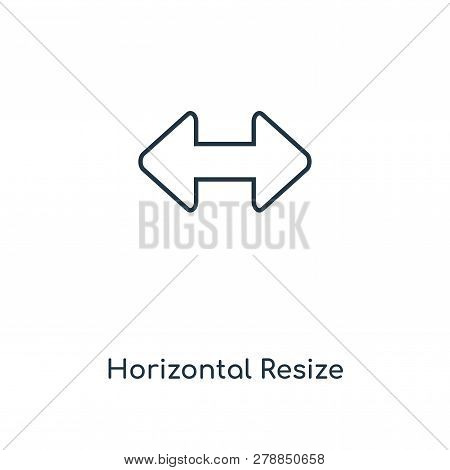 Horizontal Resize Icon In Trendy Design Style. Horizontal Resize Icon Isolated On White Background.