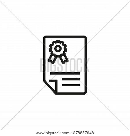 Contract Line Icon. Document, Legalization, Paper. Legal Services Concept. Vector Illustration Can B