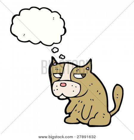 cartoon dog sulking
