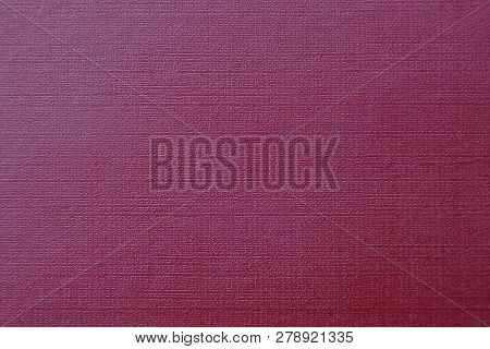 Red Leather Background From Old Book Cover