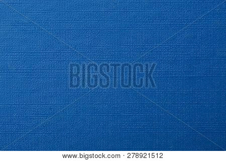 Blue Leather Background From Old Book Cover