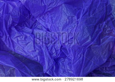 Lilac Plastic Texture From A Crumpled Piece Of Cellophane
