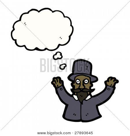 cartoon hypnotist man