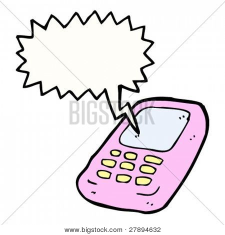 cartoon pink mobile phone
