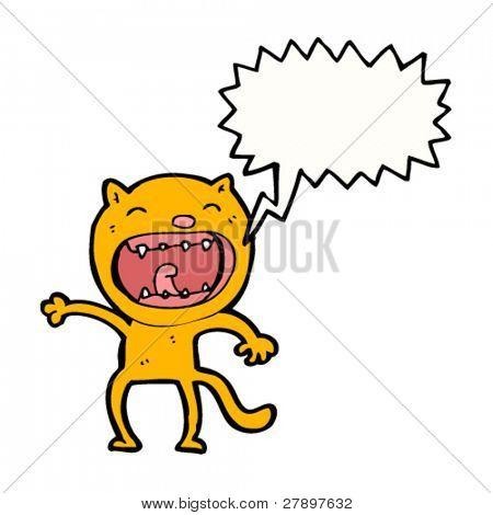 cartoon shouting cat
