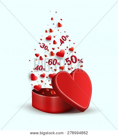 Composition With A Red Casket And A Variety Of Red Hearts,