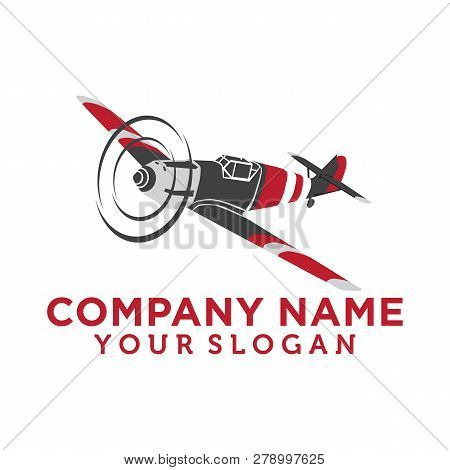 Airplane Vintage Isolated Label Vector Illustration. Wind Riders Show And Best Pilot Symbols. Airpla
