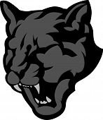 Graphic Vector Mascot Image of a Black Panther Head poster