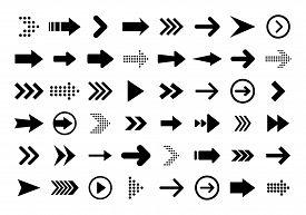 Arrows Big Black Set Icons. Arrow Icon. Arrow Vector Collection. Arrow. Cursor. Modern Simple Arrows