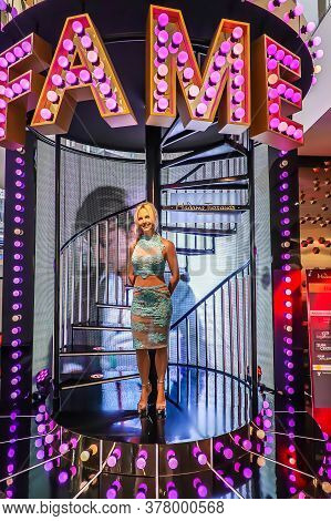Bangkok - Oct 21: A Waxwork Of Britney Spears On Display At Madame Tussauds On October 21, 2018 In B