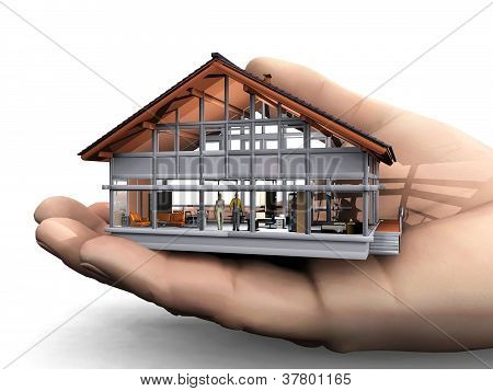 the  little house in the big hand