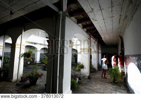 Cairu, Bahia / Brazil - November 3, 2014: View Of The Santo Antonio Convent In The City Of Cairu.