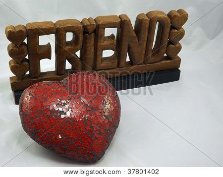 Fondo de corazón rojo