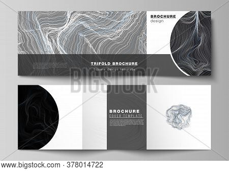 The Black Colored Minimal Vector Illustration Layout. Modern Creative Covers Design Templates For Tr