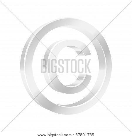 Protect Copyright Symbol. Vector Illustration