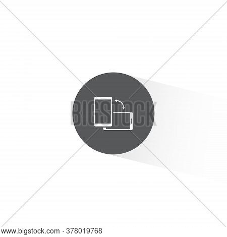 Rotate Smartphone Icon Vector In Trendy Flat Style. Turn Screen Symbol Illustration