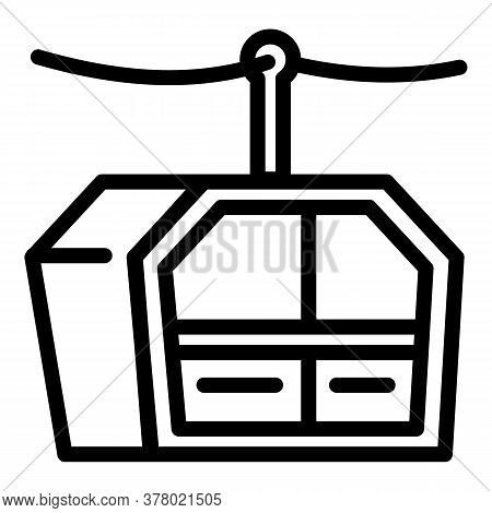 Cable Cabin Icon. Outline Cable Cabin Vector Icon For Web Design Isolated On White Background