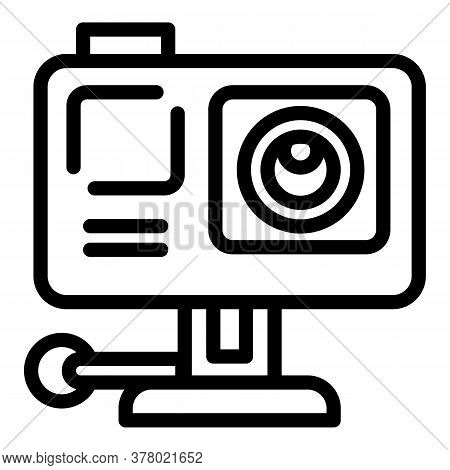 Action Camera Icon. Outline Action Camera Vector Icon For Web Design Isolated On White Background