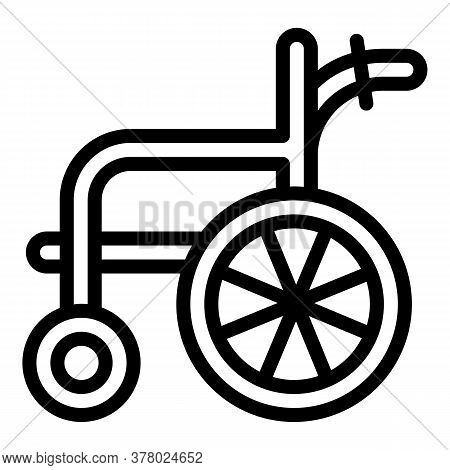 Wheelchair Icon. Outline Wheelchair Vector Icon For Web Design Isolated On White Background