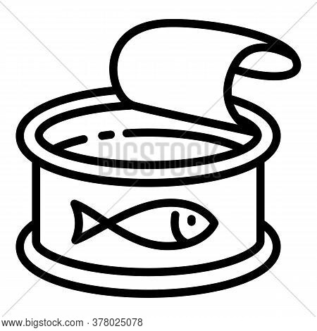 Tuna Fish Icon. Outline Tuna Fish Vector Icon For Web Design Isolated On White Background