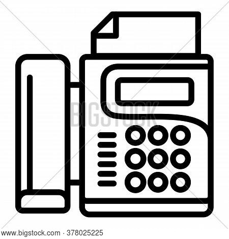 Office Fax Icon. Outline Office Fax Vector Icon For Web Design Isolated On White Background