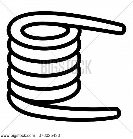 Coil Icon. Outline Coil Vector Icon For Web Design Isolated On White Background
