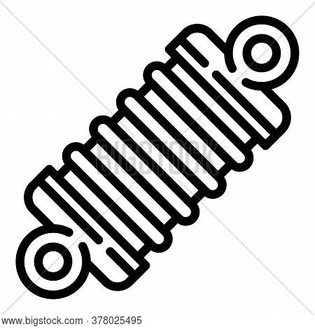 Car Spring Icon. Outline Car Spring Vector Icon For Web Design Isolated On White Background