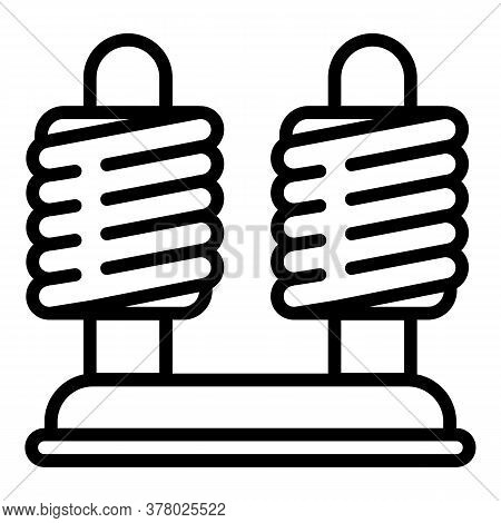 Coil Stand Icon. Outline Coil Stand Vector Icon For Web Design Isolated On White Background