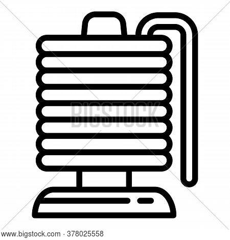 Magnetic Coil Icon. Outline Magnetic Coil Vector Icon For Web Design Isolated On White Background