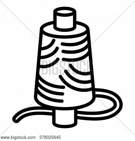 Wired Coil Icon. Outline Wired Coil Vector Icon For Web Design Isolated On White Background
