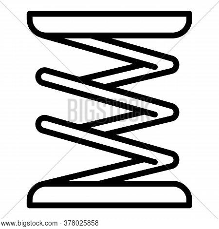 Suspension Coil Icon. Outline Suspension Coil Vector Icon For Web Design Isolated On White Backgroun