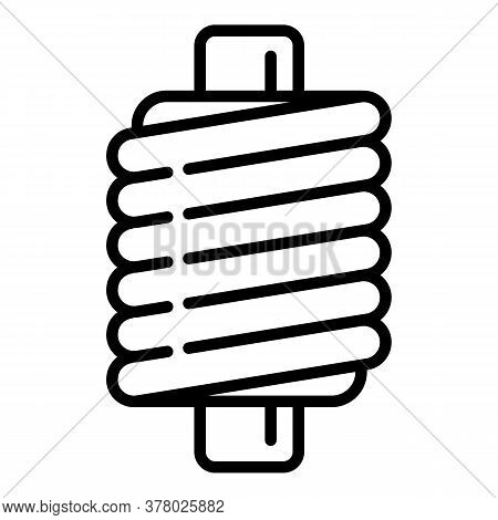 Machine Coil Icon. Outline Machine Coil Vector Icon For Web Design Isolated On White Background