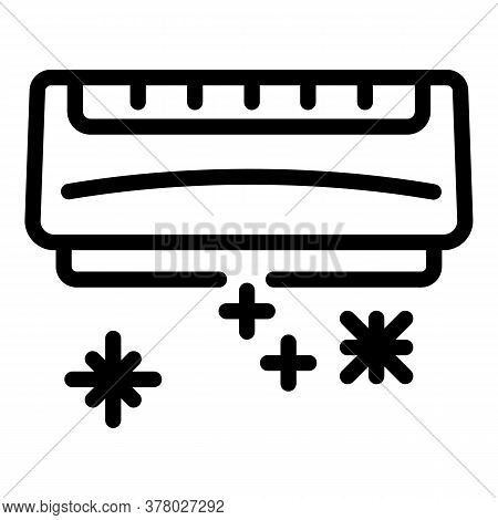 Ice Cold Conditioner Icon. Outline Ice Cold Conditioner Vector Icon For Web Design Isolated On White