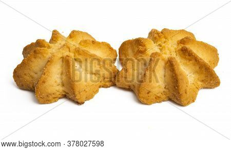 Shortbread Cookies  Bakery Isolated On White Background