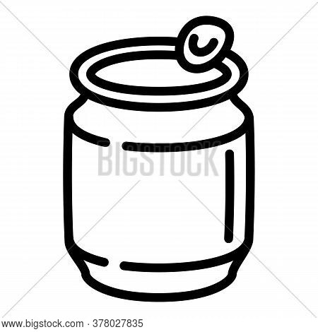Mineral Water Tin Can Icon. Outline Mineral Water Tin Can Vector Icon For Web Design Isolated On Whi