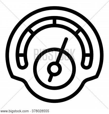 Futuristic Speedometer Icon. Outline Futuristic Speedometer Vector Icon For Web Design Isolated On W