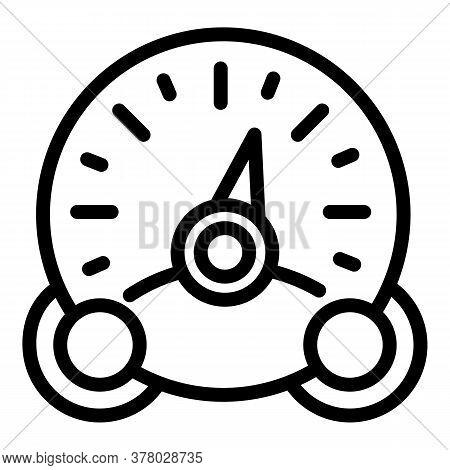 Retro Speedometer Icon. Outline Retro Speedometer Vector Icon For Web Design Isolated On White Backg