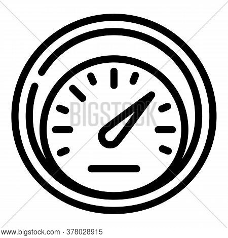 Miles Speedometer Icon. Outline Miles Speedometer Vector Icon For Web Design Isolated On White Backg
