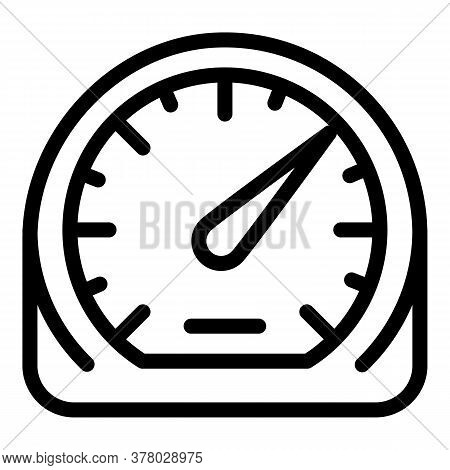 Control Speedometer Icon. Outline Control Speedometer Vector Icon For Web Design Isolated On White B