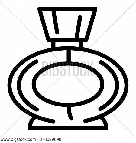 Woman Perfume Icon. Outline Woman Perfume Vector Icon For Web Design Isolated On White Background