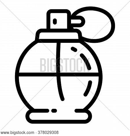 Gift Perfume Icon. Outline Gift Perfume Vector Icon For Web Design Isolated On White Background