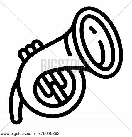 Trumpet Icon. Outline Trumpet Vector Icon For Web Design Isolated On White Background