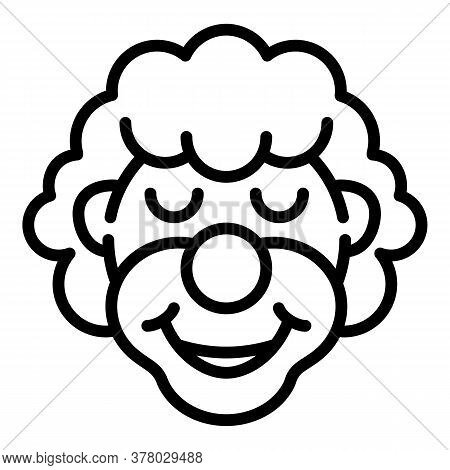 Clown Icon. Outline Clown Vector Icon For Web Design Isolated On White Background
