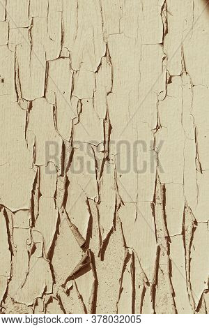 Old Wooden Texture With Beige Shabby Paint