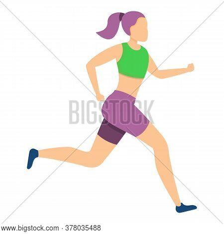 Personal Morning Running Icon. Cartoon Of Personal Morning Running Vector Icon For Web Design Isolat