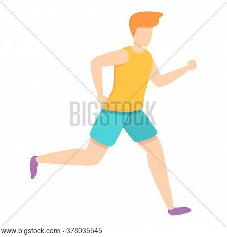Sprint Running Icon. Cartoon Of Sprint Running Vector Icon For Web Design Isolated On White Backgrou