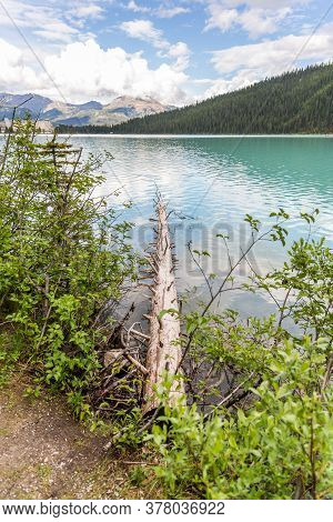 Banff, Alberta / Canada - 06/19/2015 Lake Louise Pristine Environment Is A Must See For Tourists.